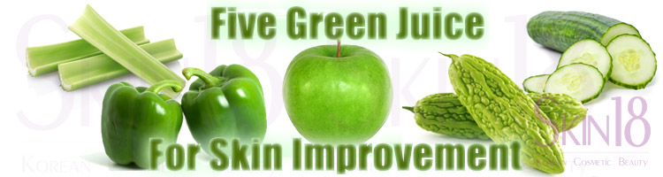Best drink for amazing skin improvement – Five Green Veggie Juice